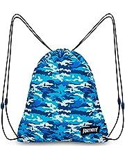 Fortnite Draagtas, zwemtassen voor kinderen, trekkoord rugzak gymtas voor school, PE kit, zwemmen, sport, camouflage gymtas voor kinderen of volwassenen, geweldig cadeau voor tieners