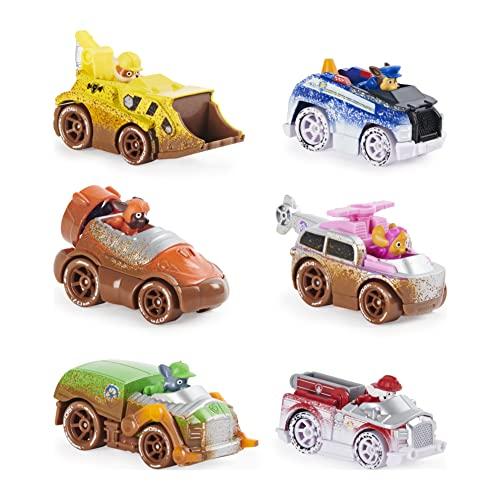 Set de Regalo de Metal de la Patrulla Canina, con Seis vehículos, versión Offroad Mud