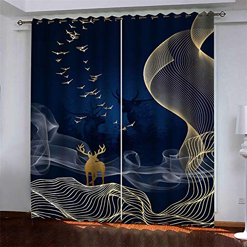 3D Digital Printing Realistic Pattern Curtains Microfiber Curtain Shower Curtain Without Perforation 2 Pieces Leaves