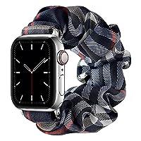 コンパチブル Apple Watch Series SE 6 5 4 3 2 1 バンド ヘアリング形バンド 伸縮でき アップルウォッチ ソフト弾性バンド iWatch 42mm/44mm 38mm/40mm に適応ストラップ 滑り止め、耐久性、快適,E,42/44mm(S)
