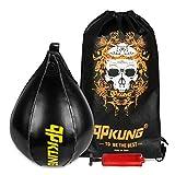 qpkung Boxen Geschwindigkeit Ball Birne Form PU Leder Boxsack MMA 4LBS Druck für MMA Thai Boxing Training mit Inflator