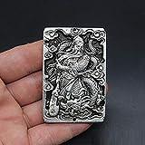 ZTIANEF Figuritas Decorativas Escultura Decoración De Antigüedades Colección Miscelánea Antiguo Qinglong Guan Gong Cintura Marca Bronce Cintura Marca Wu Caishen Cintura Marca