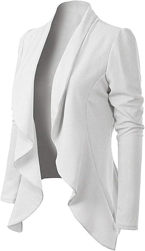Womens Long Sleeve Turn Down Collar Long Sleeve Brief Blazer Coat Jacket