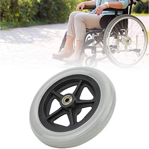 Ruedas para sillas de ruedas para discapacitados, ruedas de goma para sillas de ruedas, duraderas de 7 pulgadas antideslizantes, tamaño pequeño, resistentes al desgaste para ancianos