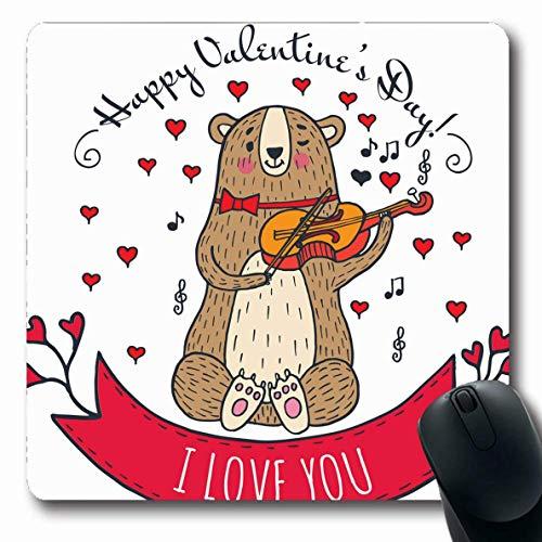 Mousepad Band Gruß Bär Teddy Valentinstag Gezeichnet Charakter Tiere Wildtiere Feiertage Glückwunsch 25X30Cm Gedruckte Arbeit Mousepad Mausmatte Custom Office Schule Länglicher La
