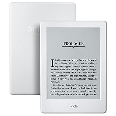 Kindle E-reader - White, 6  Glare-Free Touchscreen Display, Wi-Fi, Built-In Audible  - Includes Special Offers