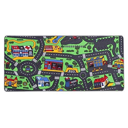 Tapis de Jeux Circuit 0,95m x 2,00m, Tapis Voiture Enfant   Tapis Circuit Voiture   Tapis de Sol Enfant de Haute Qualité