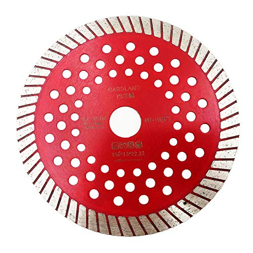 """Bardland HNT-156 Diamond Blade 6"""" (156mm) - Fast and Smooth Wet and Dry Cutting Circular Saw for GP Construction/Concrete/Roof Tiles/Stone(6' 1 piese)"""
