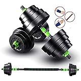 YZONG 2IN1 Kit Mancuernas Musculacion Grandes Mancuernas, Pesas Ajustables,para Entrenar en el Gimnasio y en casa A