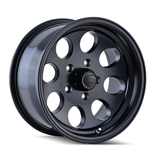 Ion Alloy 171-7981MB Style Matte Black Wheel with Machined Lip (17x9'/8x165.1mm)