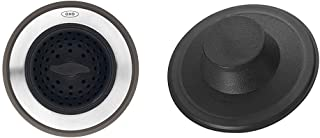 OXO Good Grips 2-in-1 Sink Strainer Stopper,Black,Sink Strainer with Stopper & InSinkErator STP-PL Sink Stopper for Garbage Disposals, Black