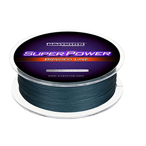 KastKing Superpower Braided Fishing Line - Abrasion Resistant Braided Lines - Incredible Superline - Zero Stretch - Smaller Diameter - A Must-Have!, Low-Vis Gray