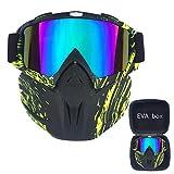 Skibrille Maske Motocross Maske Maske Windsicher Für Sport Anti Skibrille Staubmaske Helm Kompatibel, Schneebrillen Für Männer & Frauen,H