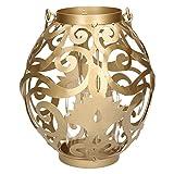 Windlicht Kugel Metall 18x18x31cm, gold