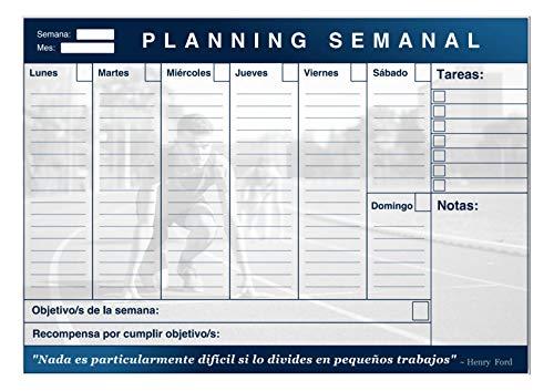 Planificador Semanal Para 50 Semanas Tamaño A4. Organización y Productividad Total Con Gamificación