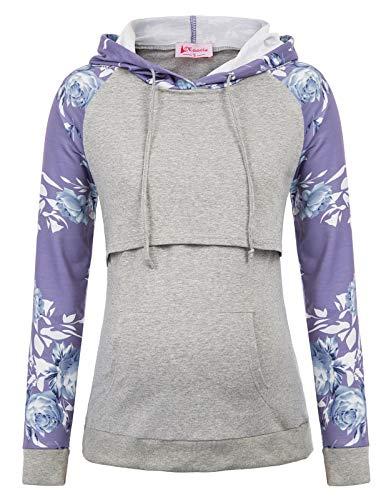 Maacie Schwangere Umstandskleidung Sweatshirt Langarmshirt Hoodie Stillpullover XXL MC1039-5