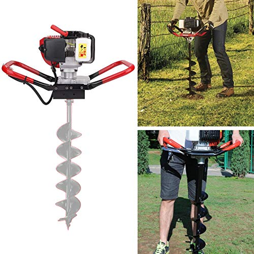 BEAMNOVA 52CC 2 Stroke Gas Powered Post Hole Digger One Man Auger (Auger Head)
