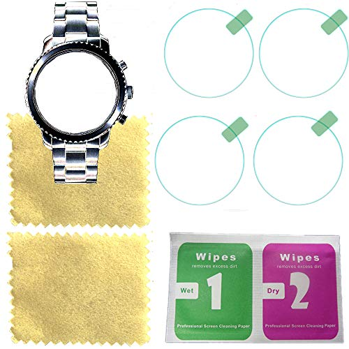 Octelect Tempered glass screen protector 9H Hardness for Fossil Q Explorist Gen 3 Glass Screen Protector(4PACK),FOR fossil smart watch screen protector