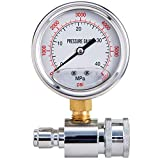 Raincovo Pressure Washer Gauge, 6000 PSI, 3/8 Inch Quick Connect, Pressure Gauge for Power Washer