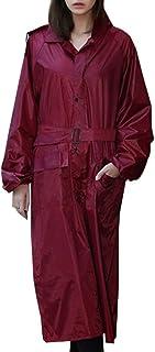 Lau's Abrigos Impermeables para Mujer - Pantalón Impermeable - Chaqueta Lluvia Manga Larga con Capucha