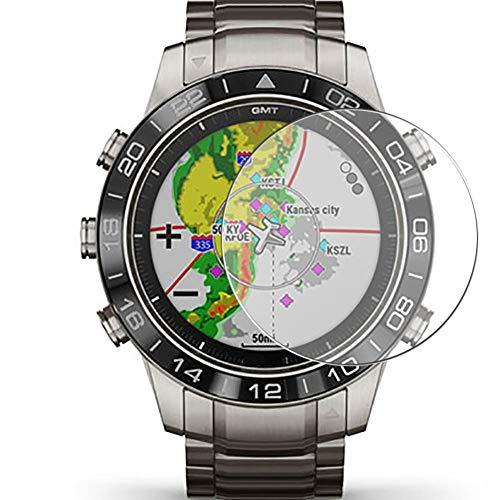 Vaxson 3 Stück 9H Panzerglasfolie, kompatibel mit Garmin MARQ Aviator Panzerglas Schutzfolie Displayschutzfolie Bildschirmschutz Intelligente Uhr Armband Smartwatch