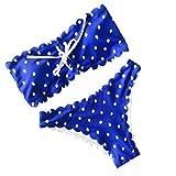 ♥ Loveso♥ Sommer Sexy Bademode Damen Bandeau Padded Bikini-Set Trägerlosen Badeanzug Push Up