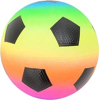 Rhode Island Novelty 9 Inch Rainbow Soccer Playground Ball, One per Order