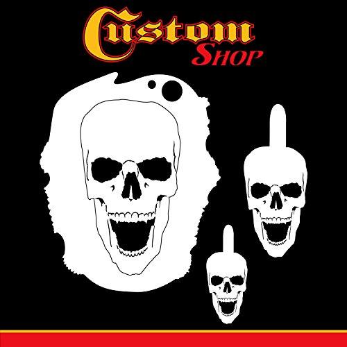 Custom Shop Airbrush Schablonen-Set #3 (3 verschiedene Maßstaben), Lasergeschnittene, wiederverwendbare Vorlagen – Auto, Motorrad Grafikkunst