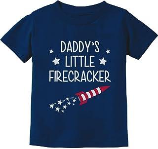 Tstars - Daddy's Little Firecracker! Cute 4th of July Toddler Kids T-Shirt