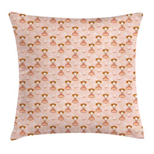 Funda de cojín Queen Pillow Royalty Girl Crown Princess Tetera Inglés Tea...