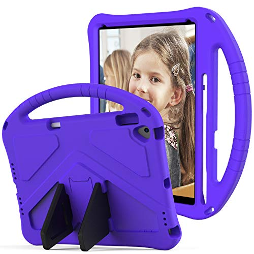 JIANWU Cover, For Kids Case for iPad Air 10.5' Case 2019 for iPad Pro 10.5' Case,for Kids Eva Shockproof Lightweight Dropproof Stand Tablet Case,With Pen slot (Color : Purper)