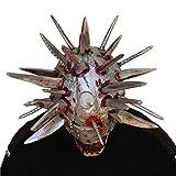 Cuchillos Máscara De Terror Zombie Máscara De The Walking Dead, Fiesta De Halloween Con Armas De Simulación En La Cabeza De Látex, Máscara De La Gente De La Hoja Del Casco