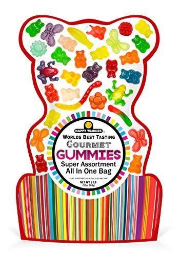 Happy Yummies Worlds Best Tasting Gourmet Gummies All In One Assortment 32oz
