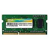 シリコンパワー ノートPC用メモリ DDR3 1600 PC3-12800 4GB×1枚204Pin Mac 対応 永久保証 SP004GBSTU160N02