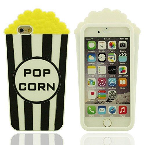 Funda iPhone 6 / 6S 4.7 Inches, Carcasa iPhone 6 / 6S, iPhone 6 Case Cover, Original Diseño Palomitas de maiz Forma Suave Soft Silicona Gel Estuche Protector