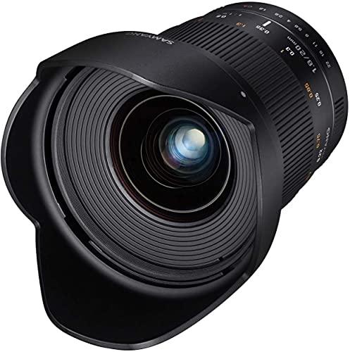 Samyang 20/1,8 Objektiv DSLR Canon EF manueller Fokus Fotoobjektiv, Weitwinkelobjektiv schwarz