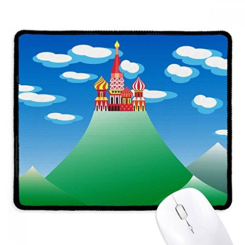 Chinese Franse berg wolk kasteel anti-slip muismat spel kantoor zwart gestikte randen gift