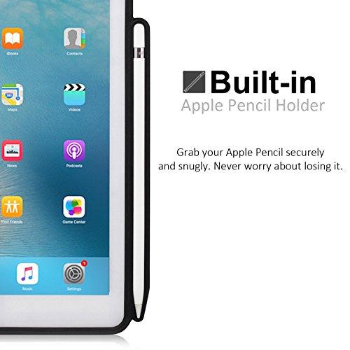 KHOMO iPad Air 3 10.5 (2019) / iPad Pro 10.5 (2017) Rückseite Abdeckung Case Hülle Schutzhülle Kompatibel mit Smart Cover, Tastatur und Apple Pencil 1 Halter - Dunkelgrau