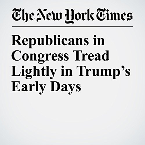 Republicans in Congress Tread Lightly in Trump's Early Days copertina