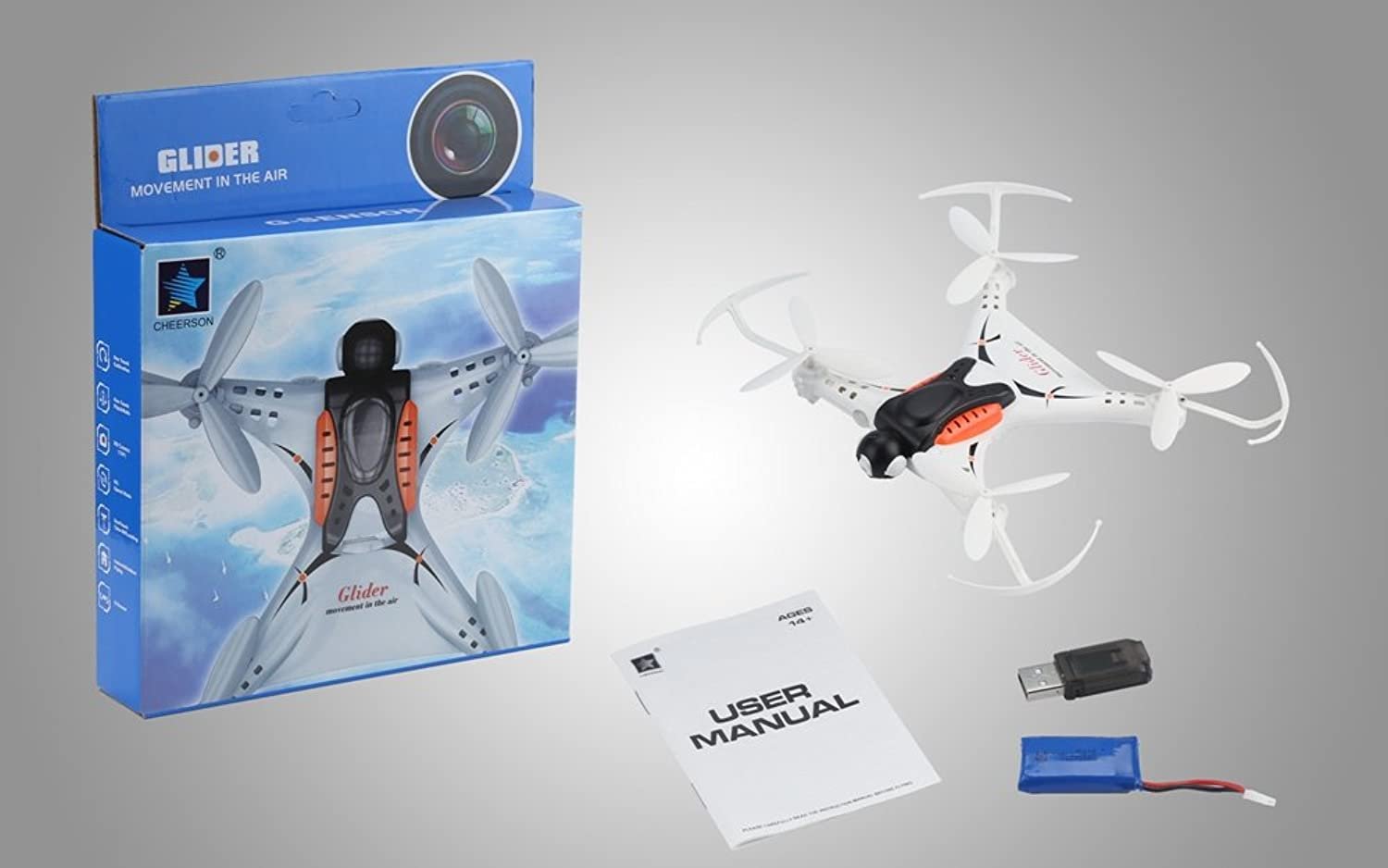 MeterMall RC Drone HD Camera Quadcopter 2.4GHz Remote Control 4CH 3D Flip Over Mini Helicopter