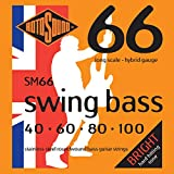 Rotosound Stainless Steel Hybrid Gauge Roundwound Bass Strings (40 60 80 100)