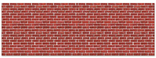 Brick Wall Backdrop Party Accessory (1 count) (1/Pkg)