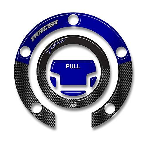 Tapón Depósito Compatible con Yamaha Tracer 700 2016-2020 - Adhesivo Moto 3D Ultra Resistente - Adhesivos para Moto - Colores:Rojo - Azul - Azul