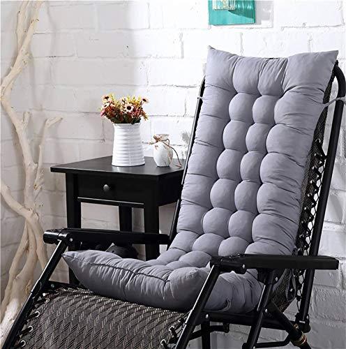 Seat Cushion Chair Solide Lange Kissen Matte für den Liegestuhl Rocking Rattan Stuhl Falten Dicke Garten Sun Lounge Sitz Kissen Sofa Tatami Matte Kein Stuhl Seat Cushion Chair (Color : Grey Cushion)