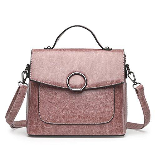 Fanspack PU Leather Satchel Bag for Women Vintage Crossbody Shoulder Bag Small Messenger Bag Purses and Handbags