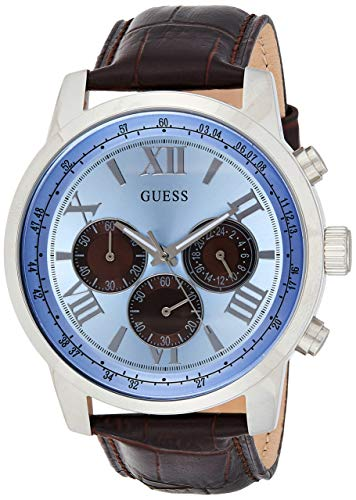 Guess Reloj Análogo clásico para Hombre de Cuarzo con Correa en Acero Inoxidable W0380G6