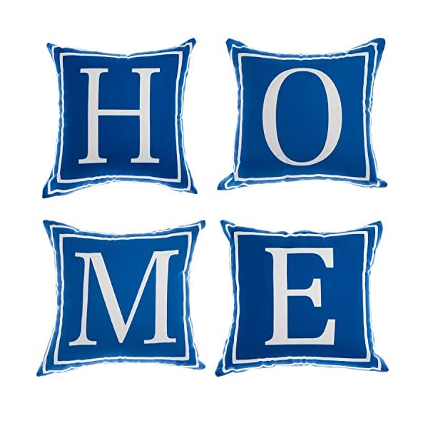 YCOLL Home Pillow Covers 18×18 Set of 4, Modern Sofa Throw Pillow Cover, Decorative...