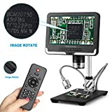 Andonstar AD206 Black 200X Digital Microscope 7 Inches LCD Display 1080P Digital Magnifier with Metal Stand...