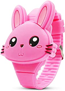 Girls Digital Watches for Kids,Cute Rabbit Shape Christmas New Year Gift for Girls Boys