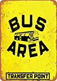 Sunlight Bus Area Transfer PointMetal Vintage Shabby-Chic Plaque Tin Sign Retro Wall Art Decor 12x8 in